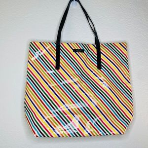 Kate Spade Candy Coated Rainbow Striped Tote